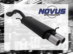 Novus Endschalldämpfer 2 x 76mm M-Design Seat Ibiza Seat Ibiza 6