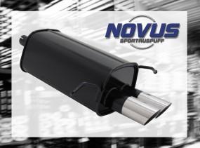 Novus Endschalldämpfer 2 x 76mm MS-Design C-Klasse Mercedes C-Kl