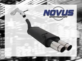 Novus Endschalldämpfer 2 x 76mm GP-Design VW Golf IV Volkswagen