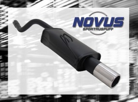 Novus Endschalldämpfer 1 x 90mm Fiat Punto II Fiat Punto II 188