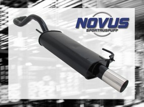 Novus Endschalldämpfer 1 x 76mm RL-Design VW Polo IV Facelift Vo