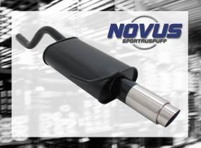 Novus Endschalldämpfer 1 x 90mm GP-Design Clio II Renault Clio I