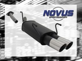 Novus Endschalldämpfer 2 x 76mm MS-Design Opel Astra G Caravan O