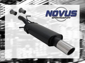 Novus Endschalldämpfer 1 x 90mm SR-Design 307 Peugeot 307 3A/C
