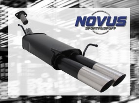 Novus Endschalldämpfer 2 x 76mm MS-Design Opel Astra G Coupe Ope