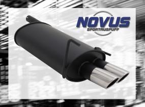 Novus Endschalldämpfer 2 x 76mm SR-Design CLK-Klasse inkl. Cabri