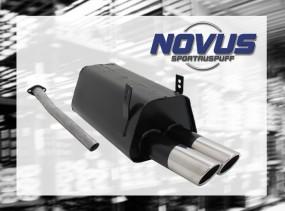 Novus Endschalldämpfer 2 x 76mm SR-Design BMW E36 Touring BMW E3