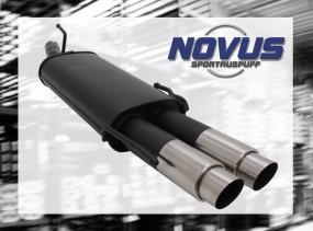 Novus Endschalldämpfer 2 x 76mm GP-Design Opel Astra F Cabrio Op
