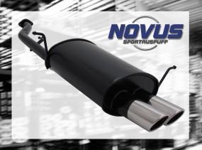 Novus Endschalldämpfer 2 x 76mm SR-Design BMW E36 Compact BMW E3