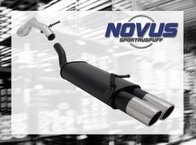 Novus Endschalldämpfer 2 x 90mm SR-Design VW Golf IV Volkswagen