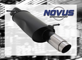 Novus Endschalldämpfer 1 x 90mm GP-Design Citroen C3 Pluriel Cit