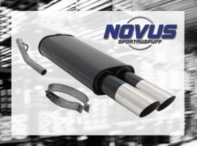 Novus Endschalldämpfer 2 x 76mm MS-Design Opel Vectra A Opel Vec