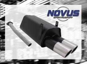 Novus Endschalldämpfer 2 x 90mm SR-Design BMW E36 Touring BMW E3