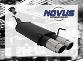 Novus Endschalldämpfer 2 x 90mm GP-Design Opel Astra G Fleißheck