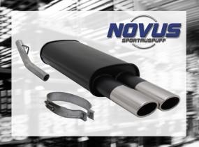 Novus Endschalldämpfer 2 x 85/58mm AM-Design Opel Vectra A Opel