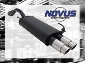 Novus Endschalldämpfer 2 x 76mm GP-Design VW Polo IV Facelift Vo