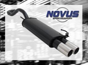 Novus Endschalldämpfer 2 x 76mm M-Design VW Polo IV Facelift Vol