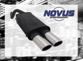 Novus Endschalldämpfer 2 x 85/58mm AM-Design Fiat Punto II Fiat