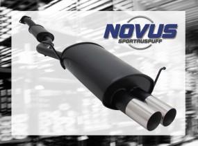 Novus Endschalldämpfer 2 x 76mm RL-Design BMW E36 Compact BMW E3