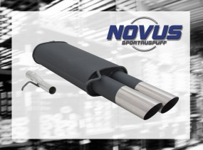 Novus Endschalldämpfer 2 x 76mm MS-Design VW Passat Volkswagen P