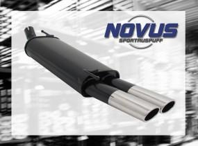 Novus Endschalldämpfer 2 x 85/58mm AM-Design VW Golf IV Cabrio V