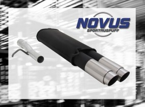 Novus Endschalldämpfer 2 x 90mm GP-Design VW Passat Volkswagen P
