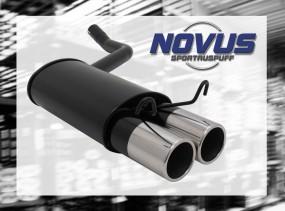 Novus Endschalldämpfer 2 x 90mm M-Design 190E Mercedes 190E W201