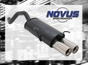 Novus Endschalldämpfer 2 x 76mm M-Design Fiat Punto II Fiat Punt