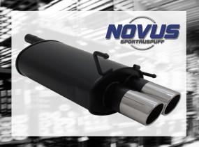 Novus Endschalldämpfer 2 x 90mm SR-Design CLK-Klasse inkl. Cabri