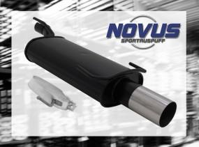 Novus Endschalldämpfer 1 x 90mm RL-Design Opel Kadett E Cabrio O
