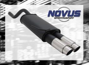 Novus Endschalldämpfer 2 x 76mm GP-Design Clio II Renault Clio I