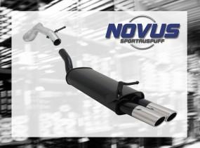 Novus Endschalldämpfer 2 x 85/58mm AM-Design VW Golf IV Volkswag
