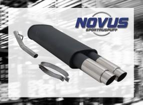 Novus Endschalldämpfer 2 x 76mm GP-Design Opel Vectra A Opel Vec