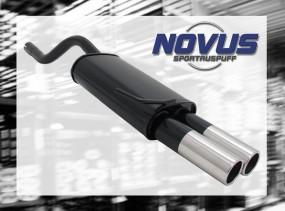 Novus Endschalldämpfer 2 x 76mm M-Design Clio II Renault Clio II