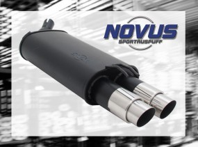 Novus Endschalldämpfer 2 x 76mm GP-Design Renaul Twingo Renault