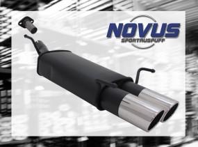 Novus Endschalldämpfer 2 x 90mm SR-Design Opel Astra G Fleißheck