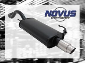 Novus Endschalldämpfer 1 x 76mm GP-Design VW Polo IV Facelift Vo