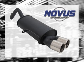 Novus Endschalldämpfer 2 x 76mm M-Design Modus Renault Modus F/J