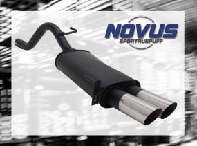 Novus Endschalldämpfer 2 x 76mm MS-Design Fiat Grande Punto Fiat