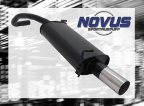 Novus Endschalldämpfer 1 x 76mm RL-Design Skoda Fabia Skoda FABI