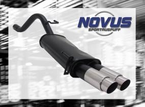 Novus Endschalldämpfer 2 x 76mm GP-Design Fiat Grande Punto Fiat