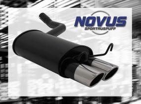 Novus Endschalldämpfer 2 x 76mm SR-Design 190E Mercedes 190E W20