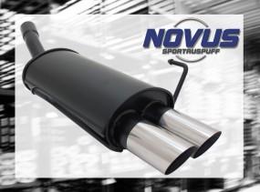 Novus Endschalldämpfer 2 x 76mm MS-Design Opel Astra H Opel Astr