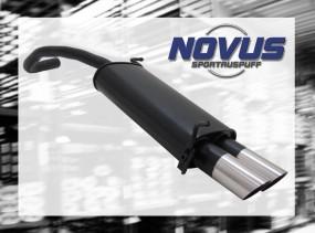 Novus Endschalldämpfer 2 x 76mm MS-Design Skoda Fabia Skoda FABI