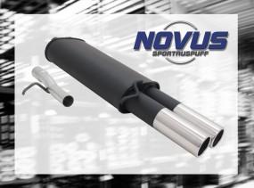 Novus Endschalldämpfer 2 x 76mm M-Design VW Passat Volkswagen Pa