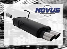 Novus Endschalldämpfer 2 x 76mm MS-Design 206CC Peugeot 206CC 2A