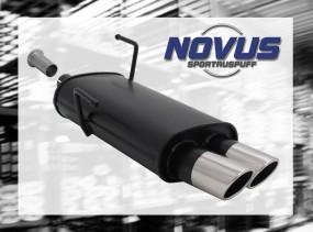 Novus Endschalldämpfer 2 x 76mm SR-Design 206CC Peugeot 206CC 2A