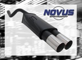 Novus Endschalldämpfer 2 x 90mm RL-Design Fiat Punto II Fiat Pun