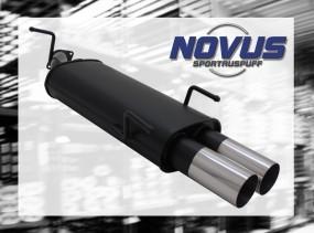 Novus Endschalldämpfer 2 x 76mm RL-Design Opel Vectra B Opel Vec