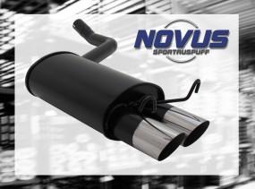 Novus Endschalldämpfer 2 x 76mm MS-Design 190E Mercedes 190E W20